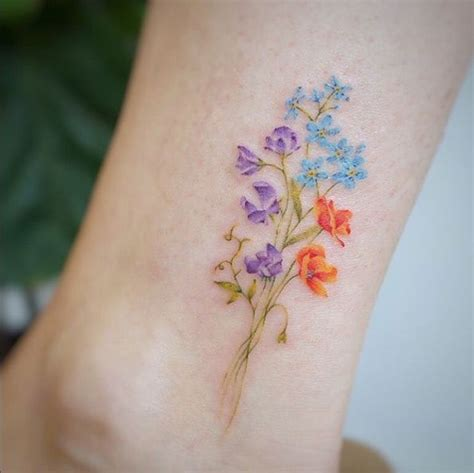watercolor tattoo wildflowers 100 designs just can t resist λουλούδι