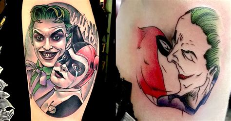 harley quinn tattooing joker 10 joker and harley quinn tattoos for any comic tattoodo