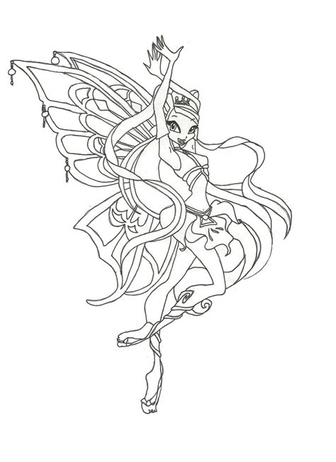 winx club enchantix stella coloring page by winxmagic237