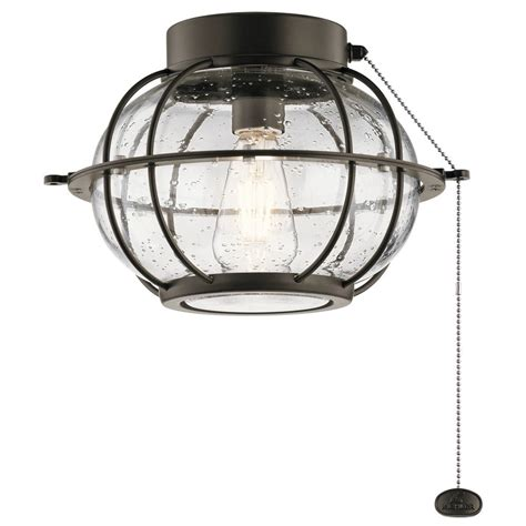 seeded glass ceiling fan led ceiling fan seeded glass light olde bronze by kichler