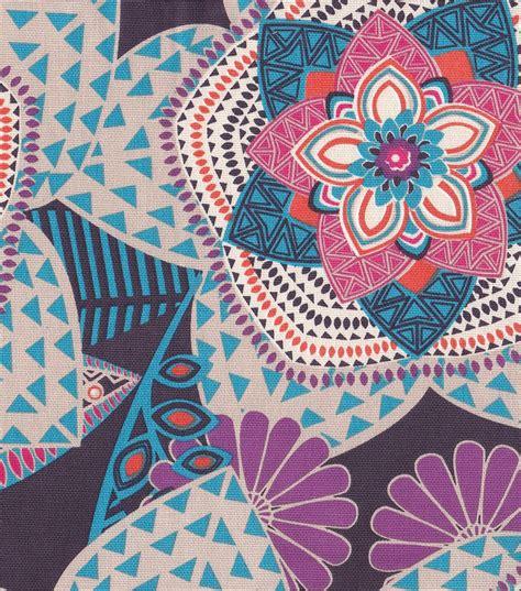 blue home decor fabric fabric large pattern floral blue home decor fabric