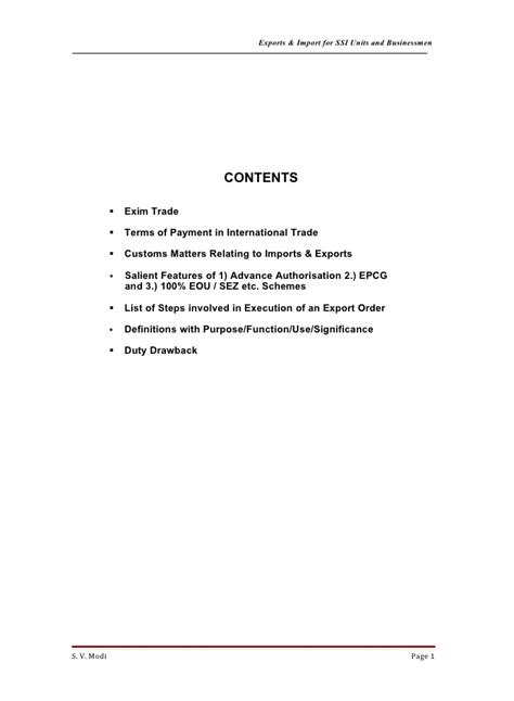 Export Import Procedures And Documentation Mba Notes by Export Import For Ss Is 1