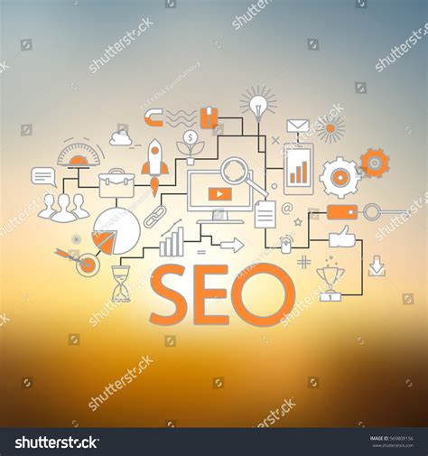 Seo Technology - concept seo technology web traffic optimization stock