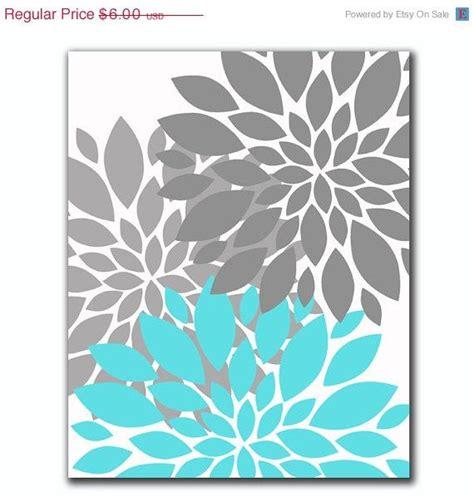 libro instant wall art botanical instant download aqua blue gray flower bursts botanical printable art 8 quot x 10 quot digital fine art