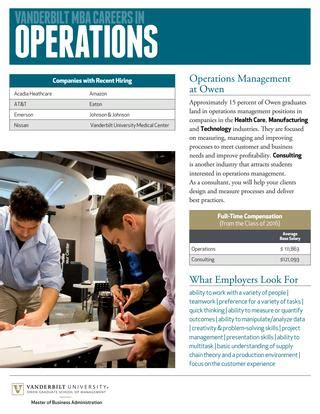 Emerson Mba Leadership Program Salary by Vanderbilt Mba Careers In Operations Management By
