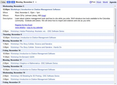 Columbia Mba Calendar by Columbia Libraries Watson Library Page 3