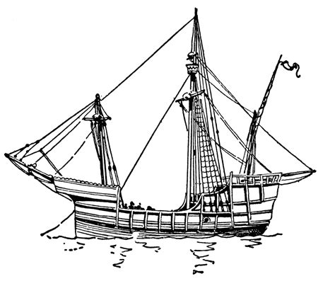 la santa maria colouring pages