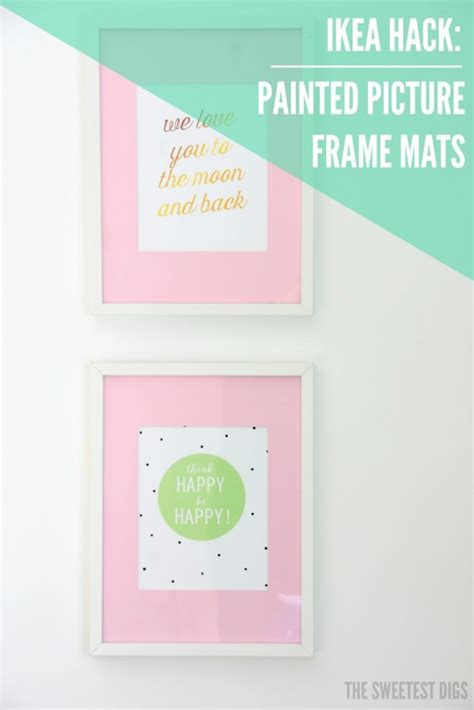 diy picture frame matting colors diy hack paint ikea ribba picture frame mats the sweetest digs