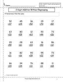 Two digit addition with no regrouping worksheet