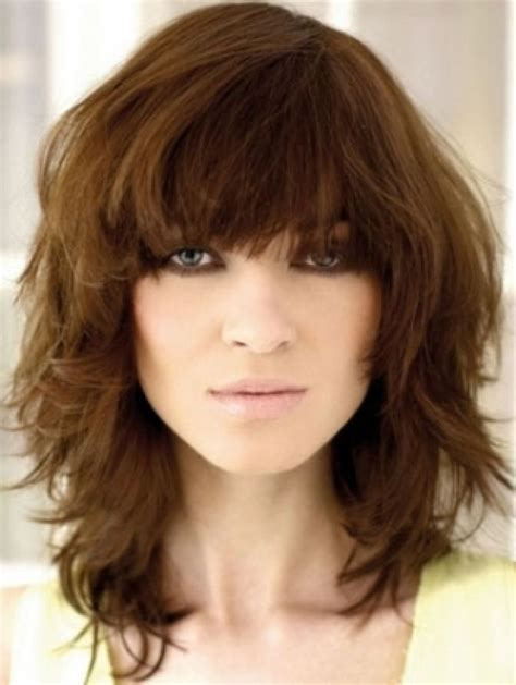 haircuts with bangs photos women s medium haircuts with bangs 2018