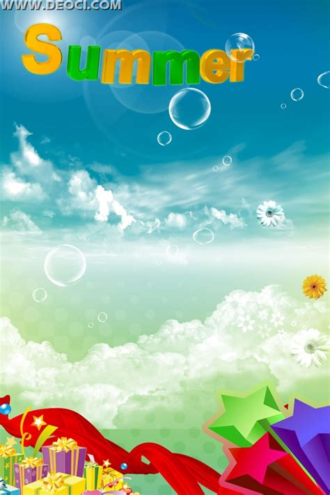 template photoshop summer summer refreshing x display rack background blue sky halo