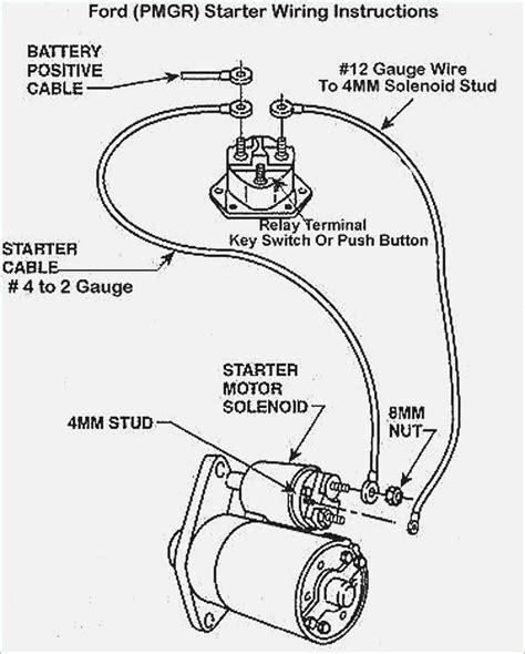 ford starter solenoid wiring diagram moesappaloosas