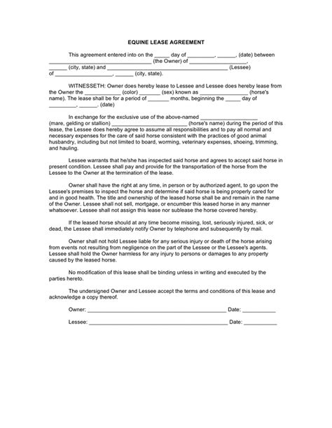 agistment agreement template lease agreement free documents for pdf