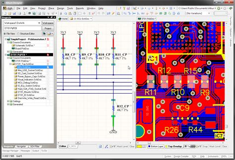 pcb layout software altium project navigation online documentation for altium products