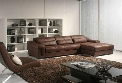 brauner teppich braunes ledersofa und brauner teppich wohnzimmer