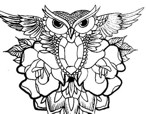 imagenes para colorear buho dibujo de s 237 mbolo b 250 ho para colorear dibujos net