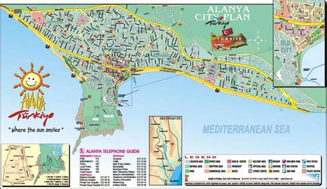 printable tourist map of turkey alanya turkey tourist destinations