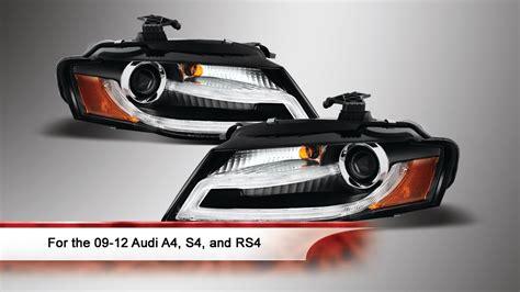 audi rs4 headlights 09 12 audi a4 s4 rs4 drl led projector headlights