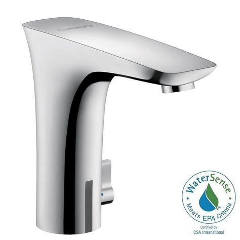 bathtub faucet temperature control hansgrohe puravida electronic single hole touchless