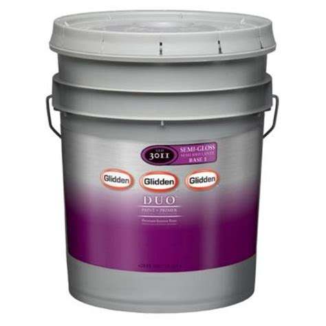home depot 5 gallon interior paint glidden duo 5 gal white interior semi gloss paint and