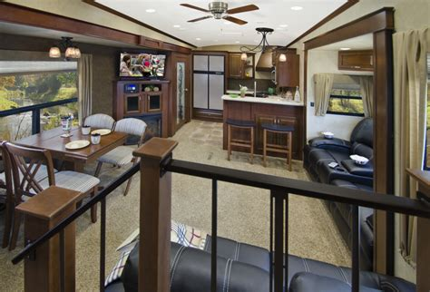 houseplan with front kitchen evergreen rv introduces rear kitchen bay hill fifth wheel vogel talks rving
