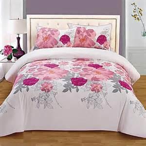 rose organic cotton reversible duvet cover set bed bath