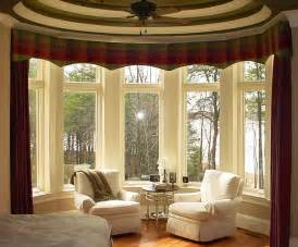 bow window decorating ideas bay window curtains