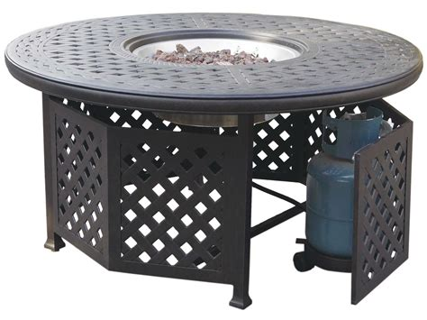 Propane Patio Table Darlee Outdoor Living Series 30 Cast Aluminum Antique Bronze 48 Propane Pit Chat