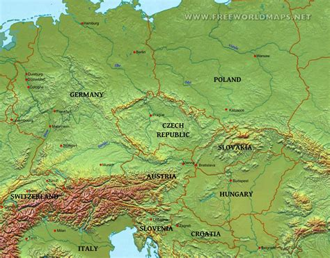 map of central europe physical map of western europe roundtripticket me