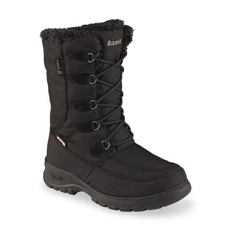 wide width snow boots upc 056248958368 kamik s black water