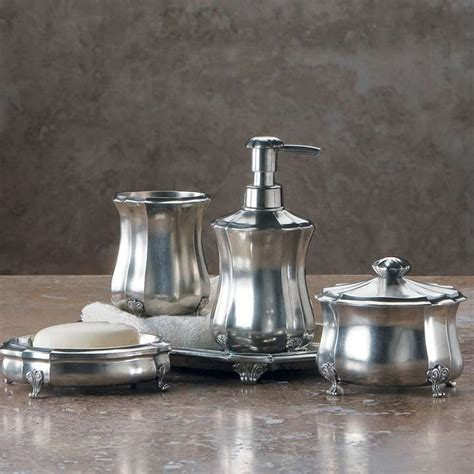 pewter bathroom accessories 17 best images about decorating media room bath on pinterest pewter damasks and