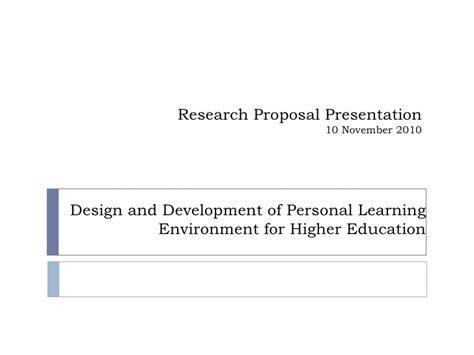 design for environment slideshare design and development of personal learning environment