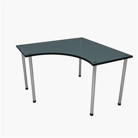 Linnmon Corner Desk Corner Desk Glass Blue 3d 3ds