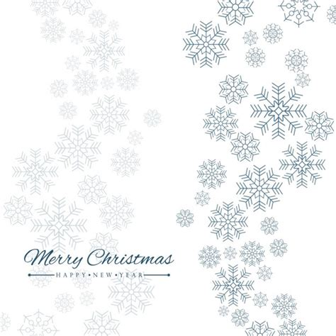 simple white background with snowflakes vector free download