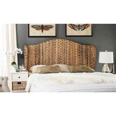 banana leaf headboard safavieh nadine banana leaf queen headboard in natural