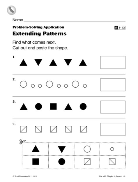 extend patterns worksheets for kindergarten pattern worksheets 187 extending pattern worksheets free