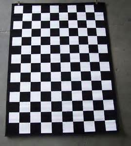 black and white checkered area rug 5 039 x 8 039 ebay