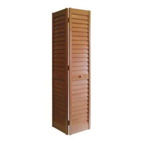 Louvered Doors Home Depot Interior Home Fashion Technologies 30 In X 80 In 3 In Louver Louver Golden Oak Composite Interior Bi