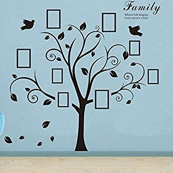 timber artbox large family tree photo frames wall decal timber artbox large family tree photo frames