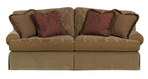 furniture tulsa skirted stationary sofa hudson s