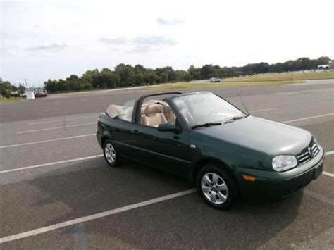 sell   volkswagen cabrio glx convertible  reserve  miles loaded rare find