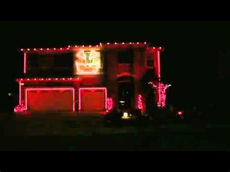 synced lights house with lights synced to thriller