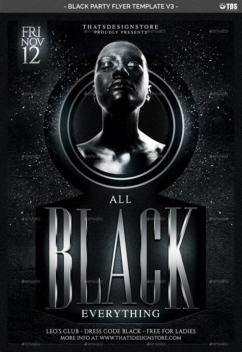 Black Party Flyer Template V3 By Lou606 Graphicriver Black Flyer Template