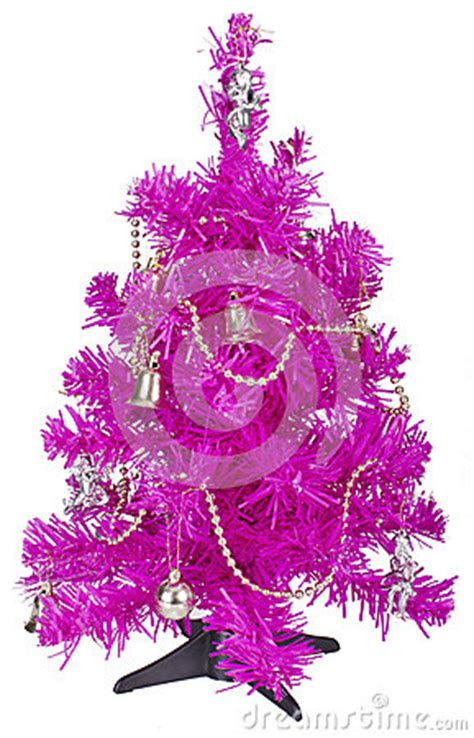 small pink tree small pink tree with decorations royalty free