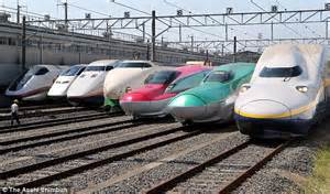 Japan celebrates half a century of its 186mph bullet trains daily