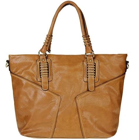 Inspired Decor Wholesale by Designer Inspired Faux Leather Handbag W Small Stud Decor