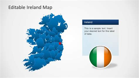 Editable Ireland Map Template For Powerpoint Slidemodel Editable Powerpoint Templates