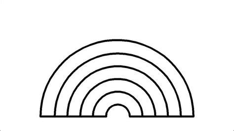 Rainbow template | Kindergarten | Pinterest Rainbow Clipart Outline