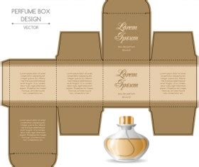 Cologne Box Template by Paper Package Box Design Template 02 Vector Cover Free