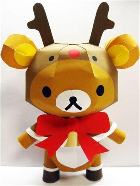 Rilakkuma Papercraft - rilakkuma reindeer papercraft harajuku